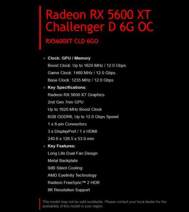 AMD Radeon RX 5600XT Teknik Özellikleri Kesinleşti!